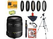 Sigma 18-250mm f3.5-6.3 DC MACRO OS HSM Lens with UV, CPL, FLD, ND4 and +10 Macro Filters for Canon EOS 70D, 60D, 60Da, 50D, 7D, Rebel T5i, T5, T4i, T3i, T3, T2i and SL1 Digital SLR Cameras