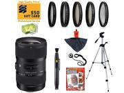 Sigma 18-35mm F1.8 DC HSM ART Lens with UV, CPL, FLD, ND4,+10 Macro Filters and Bundle for Canon EOS 70D, 60D, 60Da, 50D, 7D, Rebel T5i, T5, T4i, T3i, T3, T2i and SL1 Digital SLR Cameras
