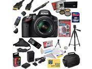 Nikon D3200 Digital SLR Camera with 18-55mm NIKKOR VR Lens With Must Have Accessory Kit - Includes 32GB High-Speed SDHC Card + Card Reader + Extra Battery + Travel Charger + 5 Piece Pro Filter Kit (UV