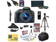 Canon EOS Rebel SL1 DSLR Camera with EF-S 18-55mm f/3.5-5.6 IS STM Lens with Must Have Accessory Kit - Includes 32GB High-Speed SDHC Card + Card Reader + Extra Battery + Travel Charger + 58MM 3 Piece