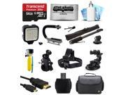 Ultimate 64GB Accessory Bundle for GoPro HERO4 Hero 4 Black Silver Edition 3 3+