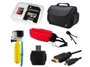 64GB Beginner Accessory Package for GoPro Hero 4 HERO4 Black Silver Camcorder 3
