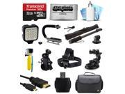 Ultimate 32GB Accessory Bundle for GoPro HERO4 Hero 4 Black Silver Edition 3 3+