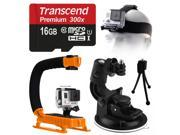 Car Steadycam Motion + Head Strap + Support Handle Bundle for GoPro HERO4 Hero 4
