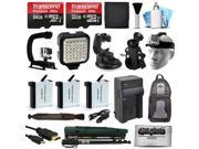21 Piece Accessories Bundle Set Kit for GoPro HERO4 Hero4 Black Silver Edition
