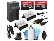 96GB Memory + Charger + 2x Batteries + HDMI + Dust Kit for GoPro HERO4 Hero 4