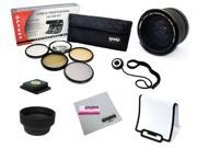 67MM Accessory Kit for CANON Rebel T5i T4i T3i T3 T2i SL1 70D 60D 7D 6D DSLR with 18-135MM EF-S IS STM Zoom Lens with Opteka .35x Fisheye Lens, 5 PC Filter Kit, Flash Diffuser, Cleaning Cloth and More