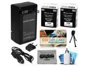2 Pcs NP-FW50 Battery + Charger for Sony Alpha A3000 A3500 A5000 A5100 A6000 DSLR SLR Digital Camera