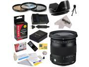 Sigma 17-70mm f/2.8-4 DC Macro TSC OS HSM Lens for Nikon D3200, D3300, D5200, D5300 with 72MM 3 PC Filter Kit, EN-EL14 1800MAH, Charger, Remote Control, Cleaning Kit, Microfiber Cloth, $50 Gift Card!