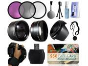 Filters (UV-CPL-FLD) + 2.2x Telephoto Adapter + 0.43x Wide Angle Fisheye + Hood + Hand Wrist Strap + Accessories Package for Nikon D5500 D5300 D5200 D5100 D3300 D3200 D3100 DSLR SLR Digital Camera