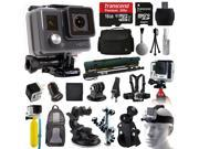 GoPro HD HERO Waterproof Action Camera Camcorder (CHDHA-301) with 16GB MicroSD + Large Case + Selfie Stick Monopod + Stabilizer Holder + Chest Strap + Car Charger + Floating Bobber + Backpack and more