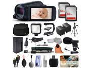 Canon VIXIA HF R600 HFR600 HD Camcorder Video Camera + 128GB Boardcasting Filmmaker's Package with LED Night Light + Tripod + Monopod + Action Stabilizer + Handgrip + Microphone + More