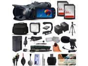 Canon VIXIA HF G30 HFG30 HD Camcorder Video Camera + 128GB Boardcasting Filmmaker's Package with LED Night Light + Tripod + Monopod + Action Stabilizer + Handgrip + Microphone + More
