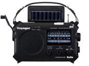 Katio KA500 Solar Crank Emergency Radio with AM FM NOAA Weather and Shortwave - Black