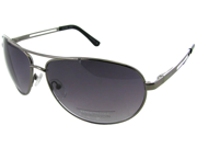 Kenneth Cole Reaction KC1069 Aviator Sunglasses - Gunmetal/Purple