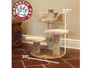 "Majestic Pet 27"" CASITA Cat Tree - Honey Brown FUR"