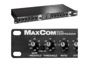 BBE MAX COM Dual Channel Compressor Limiter Gate MAXCOM NEW