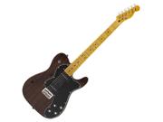 Fender Mod Player Telecaster Tele Thinline Deluxe Black Translucent