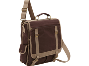 Bellino Expresso Vertical Laptop Canvas Brief - Checkpoint Friendly