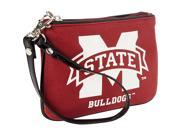 Ashley M Mississippi State University Canvas Wristlet with Patent Leather Trim