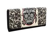 Loungefly Lace Skull With Fuchsia Wallet