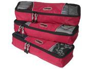 eBags Slim Packing Cubes - 3pc Set - Raspberry