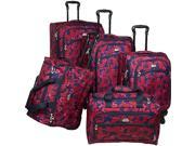 American Flyer Red Rose 5 Piece Spinner Set