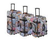 Athalon Hybrid Travelers 3 Piece Luggage Set