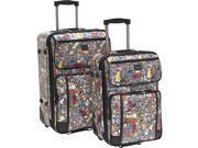 Sydney Love Diva Dogs-2pc Luggage Set