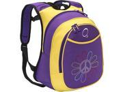 Obersee O3 Kids Pre-School Peace Flower Backpack with Integrated Lunch Cooler