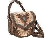 American West Eagle Heart Crossbody Flap Bag