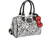 Loungefly Hello Kitty Black/White Leopard Embossed Mini City Bag