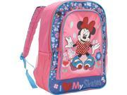 Disney Minnie Mouse I Love My Skates Backpack