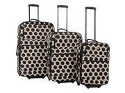 American Flyer Panda Collection 3 Piece Luggage Set