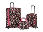 Rockland Luggage Pasadena 3 pc  Spinner Set