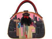 Nicole Lee Dark City Print Bowler Bag