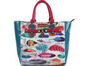Nicole Lee Feather Print Tote Bag