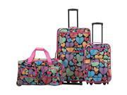 Rockland Luggage Spectra 3 Piece Luggage Set