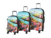 IT Luggage Havana 8 Wheel Printed 3 Piece Set