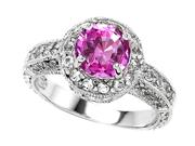 Original Star K(TM) 7mm Round Created Pink Sapphire Engagement Ring