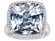 Original Star K(TM) Large Cushion Cut Simulated Diamond Halo Engagement Ring