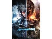 Metal Gear Rising Revengeance Raiden Split Face Wall Scroll