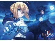 Fate/Zero Kiritsugu & Saber Fabric Poster