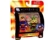 DC Minimates: Series 2 Superman Battle Damage & Brainiac 13 Figure