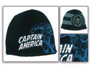Marvel: Captain America Lineart / Shield Stripes Reversible Beanie