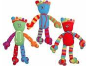 Vo-Toys Toetally Sock Happy Toy Assort Colors 13in Plush Dog Toy