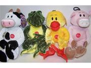 Vo-Toys Soft and Cuddle Plush Animals Assorted Dog Toy Each
