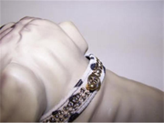 Jungle King Jewel Dog Collar 14in Snow Leopard 147