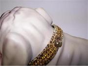 Jungle King Jewel Dog Collar 16in Leopard 147