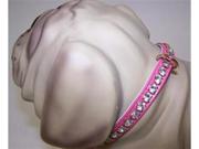 Gidget Vinyl Dog 92P Collar 14in Pink